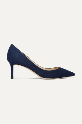 Jimmy Choo Romy 60 Suede Pumps - Navy
