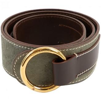 Loro Piana Khaki Leather Belts