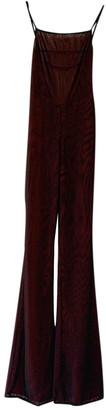 I.AM.GIA Burgundy Polyester Jumpsuits