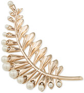 Carolee Gold-Tone Imitation Pearl Floral Leaf Pin