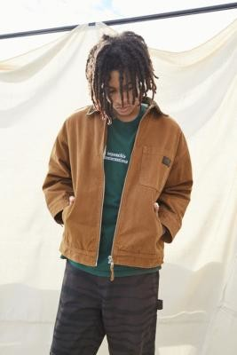 BDG Borg-Lined Worker Jacket - Brown S at Urban Outfitters