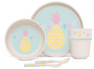 Penny Scallan Pineapple Bunting Bamboo Kids Meal Set with Cutlery