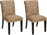 Skyline Furniture Carmen Brushed Copper Side Chairs, Pair