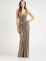 Tadashi Shoji Metallic Jersey Dress