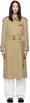Burberry Beige Long Classic Trench Coat
