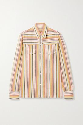 Vanessa Bruno Nolan Striped Cotton Shirt - Blush