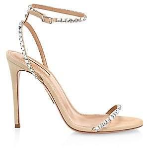 Aquazzura Women's Very Vera Embellished Suede Sandals