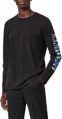 AllSaints Draco Long Sleeve Graphic Tee