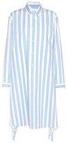 Balenciaga Striped cotton dress