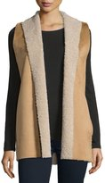 Velvet by Graham & Spencer Velvet Royce Shawl-Collar Vest, Camel