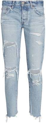 Moussy Creston Distressed Tapered Jeans