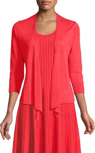 Nic+Zoe 4-Way Linen-Blend Knit Cardigan Sweater