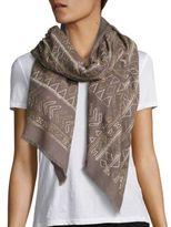 Janavi Half Gold Cashmere & Merino Wool Wrap