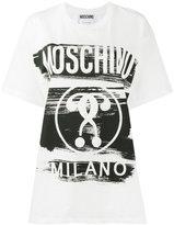 Moschino question mark print t shirt - women - Cotton - S