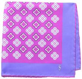 Saint Laurent Men's Medallion Pocket Square, Pink/Purple