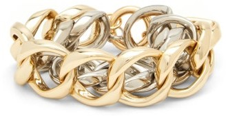 Rosantica Binari Two-tone Chain Bracelet - Silver Gold