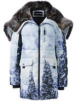 Lands' End Women's Petite Primaloft Parka-Pine Tree Mountain
