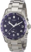 Victorinox Men's 241497 Chrono Classic Blue Chronograph Dial Watch