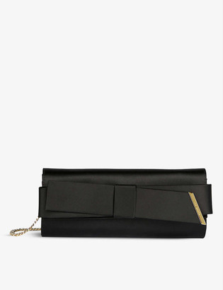 Ted Baker Abyya bow-detail evening clutch bag