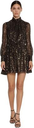 MSGM Printed Chiffon Mini Dress