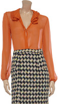 Richard Nicoll Ruffle-collar silk-crepe blouse