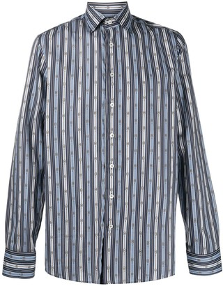 Etro Chain-Link Pattern Print Shirt