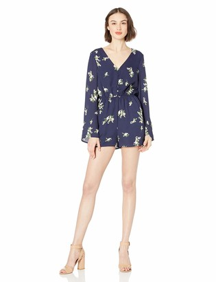 Cupcakes And Cashmere Women's Dorene Printed CDC Bell Sleeve Romper