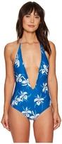Mikoh Swimwear Hinano Low V-Cut Halter One-Piece Women's Swimsuits One Piece