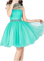 Sunvary Rhinestone High Collar Junior Cocktail Prom Homecoming Dresses Size