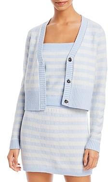 Aqua Gingham Stripe Cropped Cardigan - 100% Exclusive
