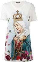 Dolce & Gabbana Virgin Mary print T-shirt - women - Cotton - 38