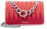 Miu Miu Club Matelassé Leather Shoulder Bag - Pink