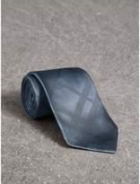 Burberry Classic Cut Check Silk Jacquard Tie, Blue
