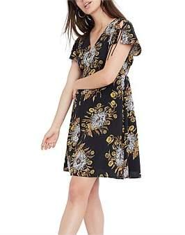 Madewell Open Back Side Smocked Dress
