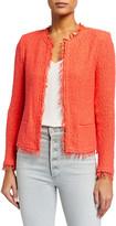 IRO Shavanispe Textured Fringe Jacket