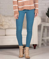 Contagious Women's Jeggings Teal - Teal Moto Jeggings - Women