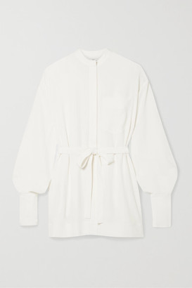 Co Belted Crepe De Chine Shirt - Ivory