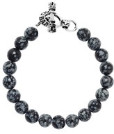 King Baby Studio Men's Agate Bead Bracelet