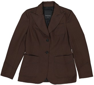 Valentino Brown Polyester Jackets