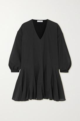 Anine Bing Peyton Cotton-poplin Mini Dress - Black