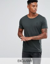 Religion T-shirt With Rolled Sleeves