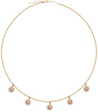 Gab+Cos Designs Rose Gold Vermeil CZ Dangling Sun Shaker Necklace