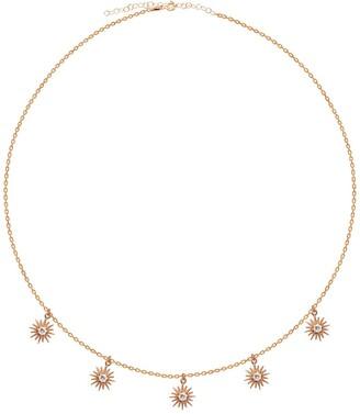 GABIRIELLE JEWELRY Rose Gold Vermeil CZ Dangling Sun Shaker Necklace