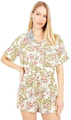 Volcom Sorry Babe Short Sleeve Shirt (Green Tea) Women's Clothing