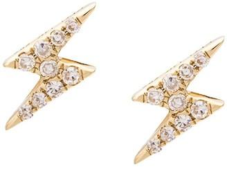 Ef Collection Mini Lightning Bold Diamond Stud Earrings