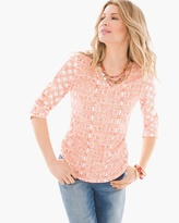 Chico's Dainty Geo V-Neck Shirt