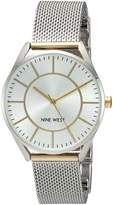 Nine West Women's NW/1923SVTT Two-Tone Mesh Bracelet Watch
