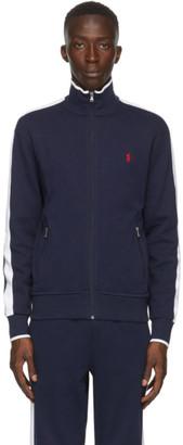 Polo Ralph Lauren Navy Interlock Zip-Up Jacket