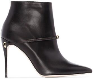 Jennifer Chamandi Niccolo two-tone ankle boots