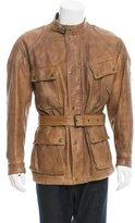 Belstaff Distressed Leather Coat